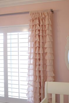 Ruffle curtains for Nursery