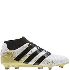 c445fa61c5b adidas ACE 16.1 Primeknit FG White Black Gold Firm Ground Soccer Cleats -  model S76474