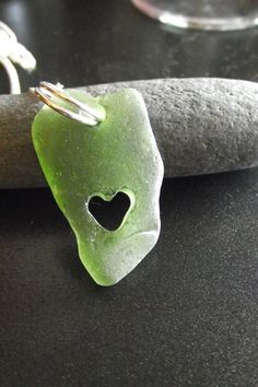 RESERVED for MINA  Sea Glass Jewelry  I Heart by SeaFindDesigns, $33.00