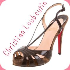 "Christian Louboutin Heels - Sz 36.5 - Retail $770 Christian Louboutin black patent leather multi-strap sandals with tonal stitching throughout, cork heels and buckle closures at ankles. Excellent used condition. Minor wear at soles. All pics are of actual shoes. Heels 4.5"". No box or dustbag. Size IT 36.5/US 6.5. Retail $770. ✳️Always Authentic✳️Also listed on other sites so will sell quickly✳️ ❌Trades❌PayPal❌ Christian Louboutin Shoes Heels"