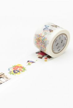 NEW RELEASE WASHI AT NOTEMAKER.COM.AU- MT Japanese Masking Tape - Single Roll - Wide - Kitty and Flutterbies - $7.95