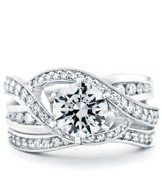 Bedazzle Engagement Ring with Wedding Band - Mark Schneider Design