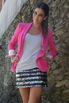 OMG, I want and need.  love this pink blazer.