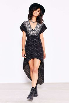 Ecote Kimono High/Low Dress - Urban Outfitters