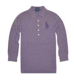 Ralph Lauren Women The Skinny Polo Big Pony Logo T-Shirt (S, Purple) Ralph Lauren. $54.99
