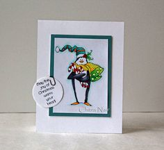 Art Impressions: Ai Christmas: Warm Your Heart Set (Sku#4519) Handmade penguin card.
