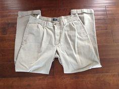 Dockers Mens Olive Cuffed Khakis Size 36x30 #DOCKERS #KhakisChinos
