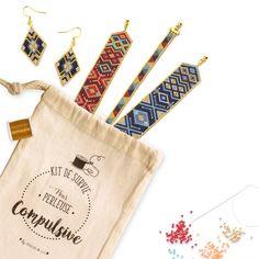 Kit Bracelet et Boucles d'Oreilles Tissage Miyuki Peyote et Brick - Perles & Co