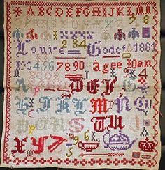Ancien-abecedaire-broderie-ancienne-aux-points-de-croix-vers-1881
