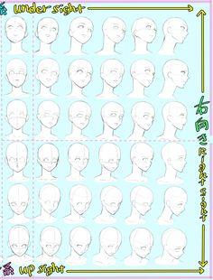 """吉村拓也 on Twitter: """"✨顔を描くのが苦手な方へ✨ 【顔面パース表】作りました (保存、コピー、練習など ご自由にお使い下さい。) https://t.co/10aFJW7mNK"""""""