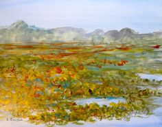 A Michigan Lake sketch that I started last summer and finished in the studio.  Lee Bauman