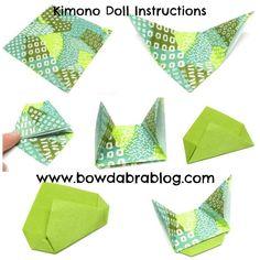 Origami Folding Diagrams kimono dolls - Bing Images