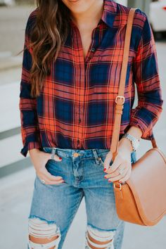 girlfriend jeans, slingback booties, blanknyc denim, blank denim, plaid shirts, sadle bag sale picks for nordstrom anniversary sale 2017, nordstrom fall new arrivals, nordstrom anniversary sale 2017 // grace wainwright @asoutherndrawl