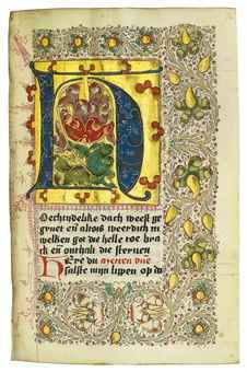 BOOK OF HOURS AND PRAYERBOOK, in Dutch, ILLUMINATED MANUSCRIPT ON VELLUM AND PAPER | Books & Manuscripts Auction | Books & Manuscripts, medieval & renaissance manuscripts | Christie's