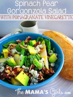 Pear Gorgonzola with Pomegranate Vinegarette