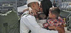 Navy Sailors Return Home