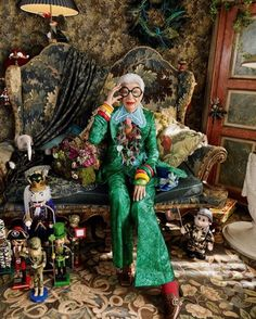 Iris Apfel. #NewYork #Fashion #Clothes #Glasses