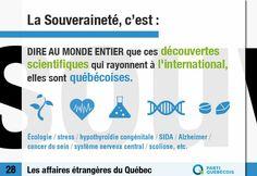 Le saviez-vous?   Au cours des 30 dernières années, grâce aux chercheurs québécois:  - On comprend mieux les mécanismes de la douleur et la maladie d'Alzheimer;  - On connaît des gènes prédisposant au cancer du sein;  - On a découvert la capacité des neurones de se régénérer dans le système nerveux central;  - On a conçu le premier médicament mondialement utilisé contre le Sida.