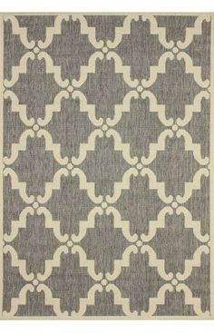 Aperto Outdoor Trellis Grey Rug | Contemporary Rugs