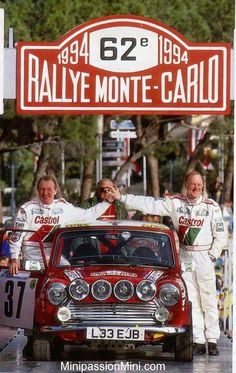 Paddy Hopkirk and Ron Crellin reliving the dream on the 94 Monte Historique, ( DNF )