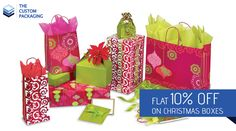 Order now and get flat 10% discount on your custom christmas boxes. book your order at 888-851-0765 or get a free custom quote. Christmas Gift Bags, Homemade Christmas Gifts, Christmas Gift Wrapping, Christmas Diy, Christmas Boxes, Custom Packaging, Gift Packaging, Paper Gift Box, Gift Boxes