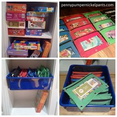 I just did this! LOVE IT! Found my pencil pouches at Dollar store. Now the children are actually working puzzles again!