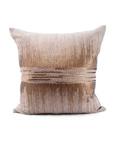Vionnet Square Pillow - Gold and Natural