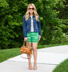 Bright Shorts ... Too hot in GA for a denim jacket, but I'm digging the shorts!