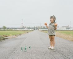 Japanese photographer Nagano Toyokazu first introduced us to his youngest daughter Kanna a couple of years ago and then shared more images of the photogenic little girl recently with their Kiss Me Please Project. We simply can't seem to get enough of the adorable 4-year-old who makes it difficult to look at anything but her in Toyokazu's ongoing series of portraits aptly labeled My daughter Kanna.