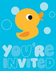 Little Quack Baby Shower 8-count Invites
