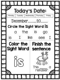 November Morning Work   Literacy   Kindergarten morning work