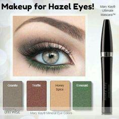 www.fb.com/mkmarielis   Makeup for hazel eyes Mary Kay