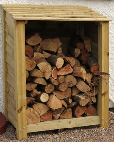 Rustic Treated Wooden Log Store or Garden Store by charmedwooduk, £85.00