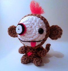 Zombie Skeleton Monkey Plush Doll - lauriegorexx @ Etsy