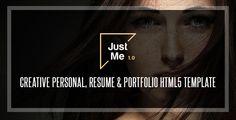 Just Me | Creative Personal Resume, vCard & Portfolio HTML5 Template (Creative) - http://wpskull.com/just-me-creative-personal-resume-vcard-portfolio-html5-template-creative/wordpress-offers