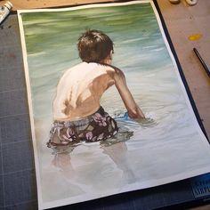 Serie sur le thème du portrait.Watercolor paintings | aquarelle