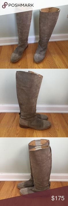 """rag & bone   Stone Suede Tall Riding Boots Beautiful suede boots. Made in Italy and excellent craftsmanship. Size 37 1/2.  ❇️Shaft Height: 16.5"""" ❇️Calf Circumference: 14.5"""" ❇️Heel Height: ~1.25"""" ❇️Condition: Good pre-owned condition, all angles and wear shown in photos. Zoom in pictures to see up close.  ⤵️ 20% off on all bundles! Offers only considered through the private tool. No trades. rag & bone Shoes"""