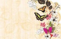 Enclosure Card-Flower-Butterfly (50ct)