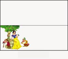 Snow White: Free Printable Candy Bag Label.