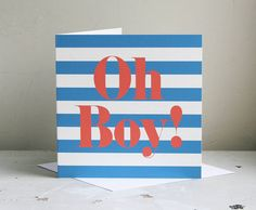 New Baby Boy Card from notonthehighstreet.com
