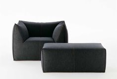 UPHOLSTERED FABRIC ARMCHAIR WITH ARMRESTS WITH FOOTSTOOL LE BAMBOLE '07 COLLECTION BY B&B ITALIA   DESIGN MARIO BELLINI
