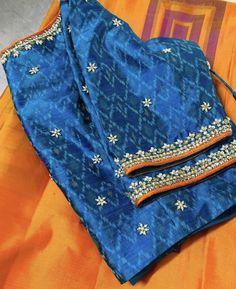 Kerala Saree Blouse Designs, Half Saree Designs, Stylish Blouse Design, Fancy Blouse Designs, Bridal Blouse Designs, Blouse Neck Designs, Blouse Patterns, Kalamkari Fabric, Kutch Work