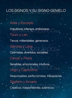 LOS SIGNOS Y SU SIGNO GEMELO #Zodiaco #Astrología #Astrologeando