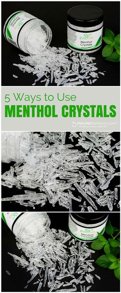 How to Use Menthol Crystals and make a Homemade Menthol Rub -  This easy DIY is one of my favorite ways to use menthol crystals is to add some crystals to melted coconut oil to make an invigorating oil that is perfect for massaging as a menthol rub, for moisturizing either in or out of the bath and shower, and for shaving. Sponsored.