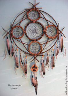 """Ловец снов """"Великий Дух"""" - ловец снов,индейцы,гаучо,оберег,этно,хиппи стиль"""