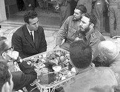 El Presidente de Argelia Amed Ben Bella, Fidel Castro y Ernesto Che Guevara, 1962