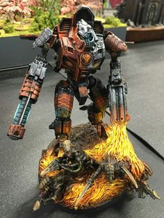 Epic Tau color scheme. 40k forgeworld Y'vahra Battlasuit