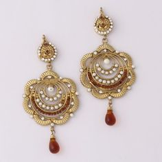Brown Stone Drop Earring By Variation