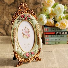 Estilo Pastoral europeu de rosas de alta qualidade criativa de resina de artesanato em Moldura de Casa & jardim no AliExpress.com | Alibaba Group