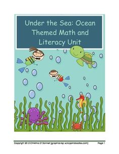 Here is the start of my ocean themed math and literacy unit! This free read the room activity includes 18 cards to hang around the room and three r...
